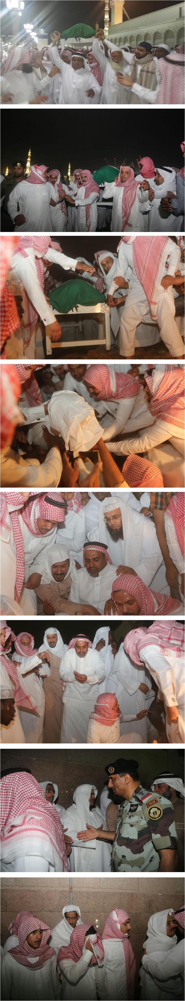 الصلاة على الشهيد الحربي في المسجد النبوي