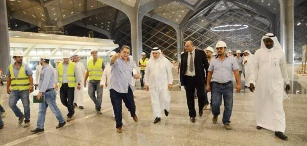 بالصور.. وزير النقل يتفقد أعمال مشروع قطار الحرمين الشريفين