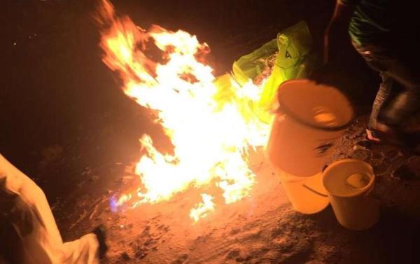حرق المخلفات الطبية