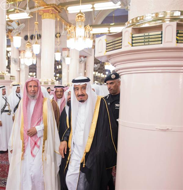 زيارة خادم الحرمين الشريفين للمسجد النبوي الشريف