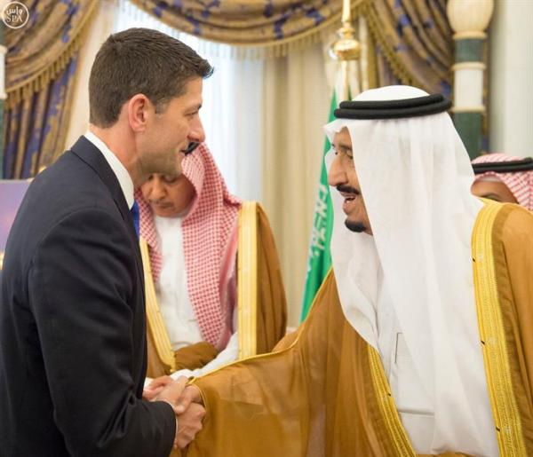 خادم الحرمين الشريفين يستقبل رئيس مجلس النواب الأمريكي