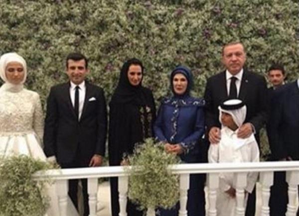 صور لحرم أمير قطر ونجله خلال حفل زفاف ابنة أردوغان
