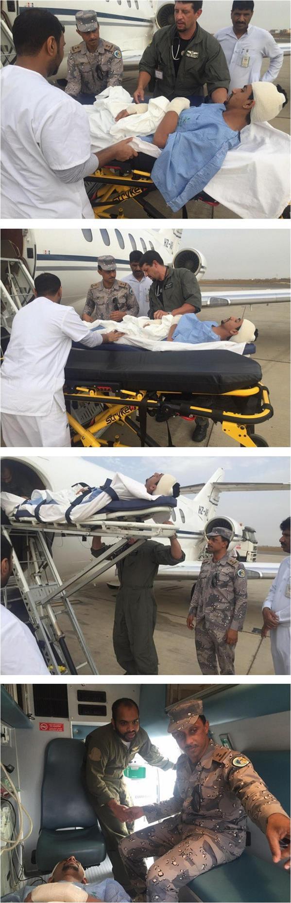 إخلاء جندي جواً إثر تعرضه لقذيفة حوثية