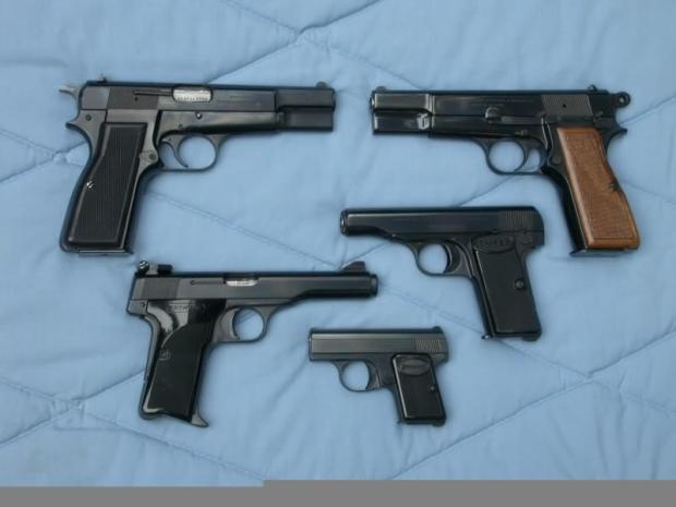 ثانياً: المسدسات: