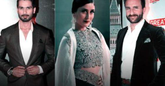لن تصدق شاهد كابور وحبيبته السابقة كارينا وزوجها سيف علي خان