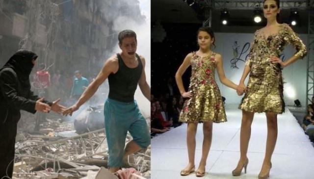 أسبوع الموضة في اللاذقية والدمار في حلب