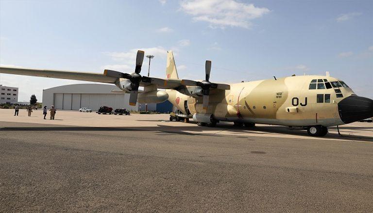 جانب من المساعدات المغربية التي وصلت لبنان عقب الانفجار الضخم الذي ضرب مرفأ بيروت