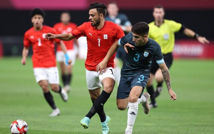 From the match between Egypt and Argentina in the Tokyo Olympics 2021