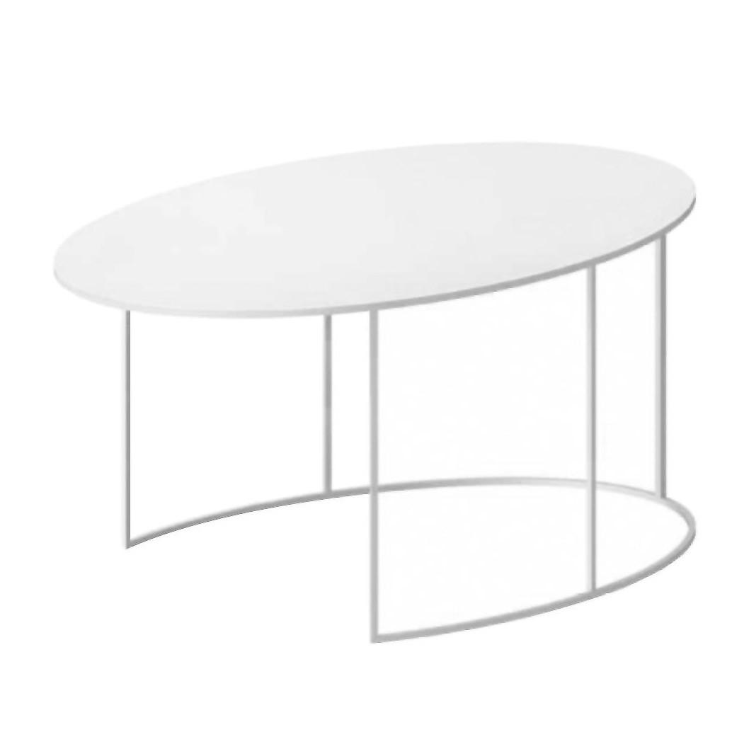 slim irony oval coffee table