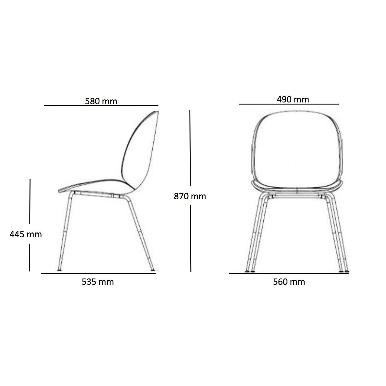 Gubi Beetle Chair With Farbic And Brass Base