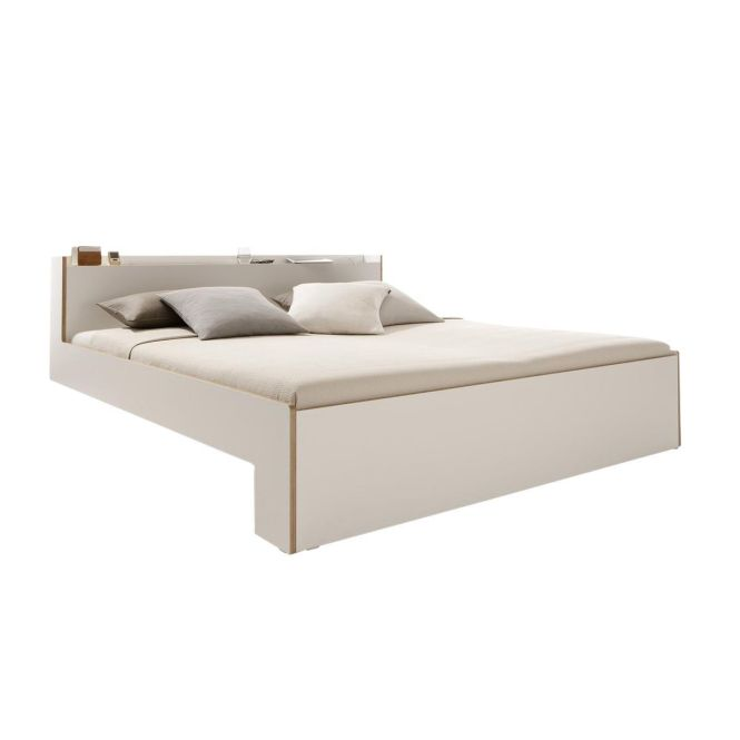 Müller Möbelwerkstätten Nook Double Bed White 160x200cm Without Mattress And