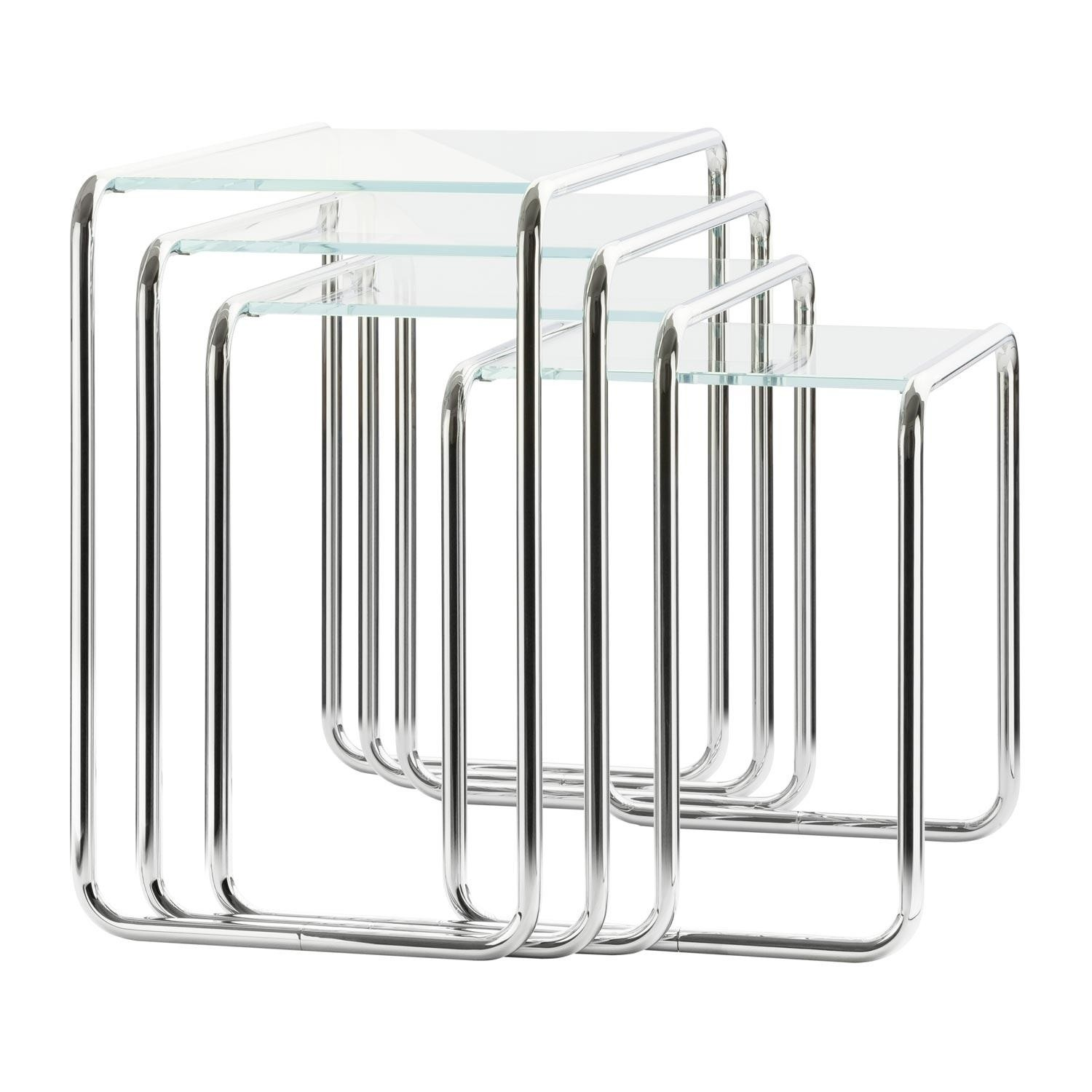 b 9 side table glass set of 4
