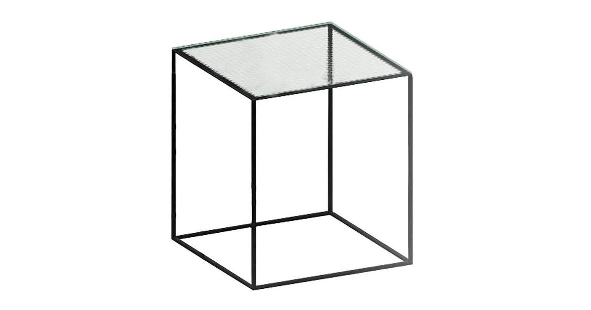 slim irony side table glass 41x41cm