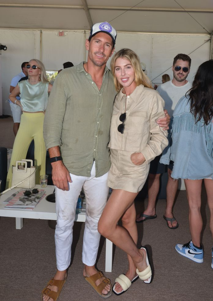 Nic Roldan and Hannah Selleck at The World Polo League Beach Polo on April 24, 2021 in Miami Beach, Florida.   Photo: Getty Images