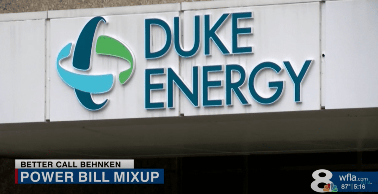 The exterior of the Duke Energy building, the company who is accused of charging a woman's account incorrectly | Photo: Youtube/WFLA News Channel 8