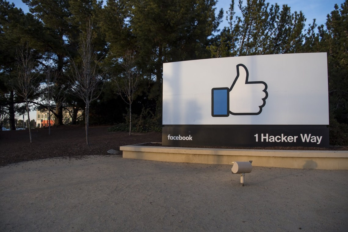Signage outside Facebook Inc.'s headquarters in Menlo Park, California. The company reported quarterly earnings on Wednesday.