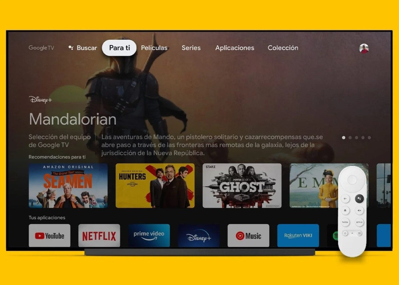 Interfaz de Google TV