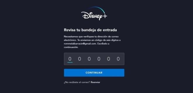 resetear o cambiar la contraseña en Disney+