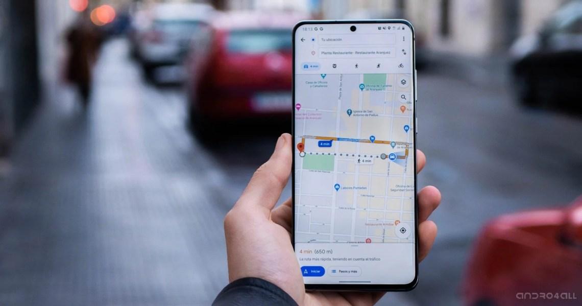 Google Maps en un móvil Android
