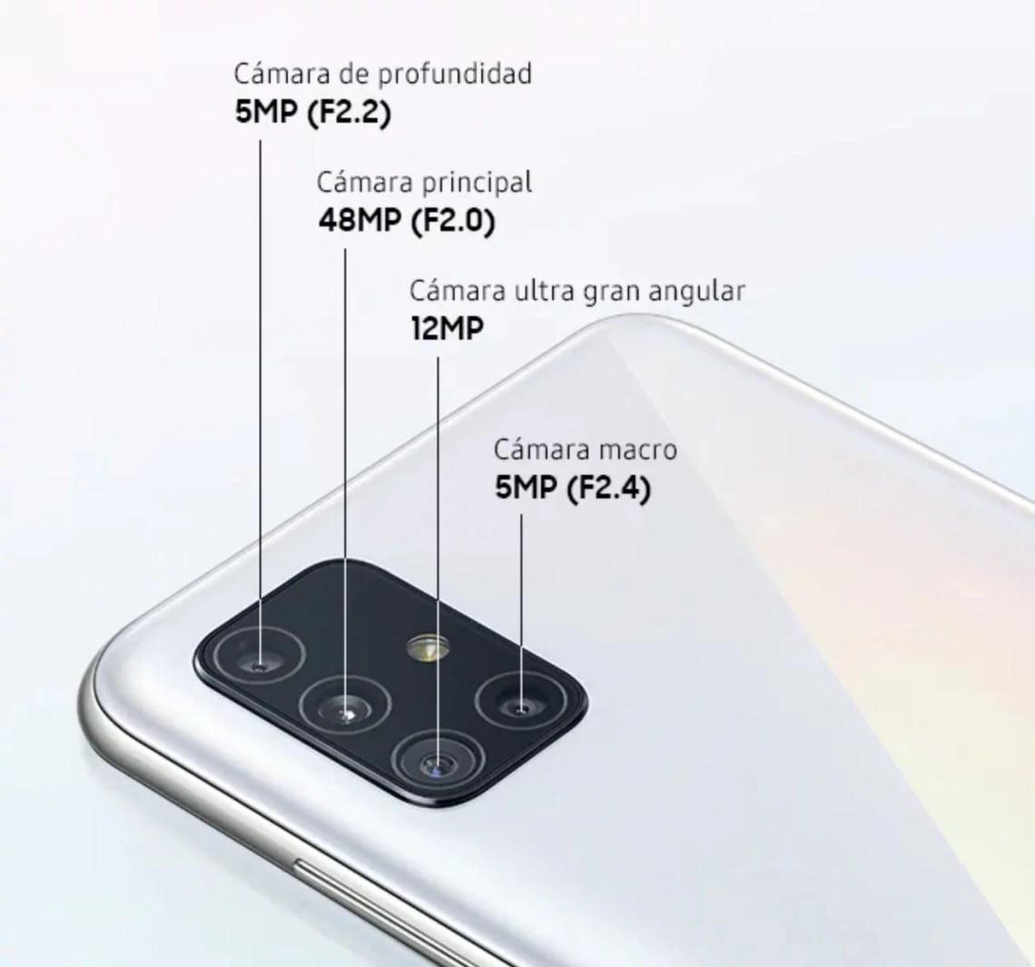 A examen las cámaras del Samsung Galaxy A51 5G