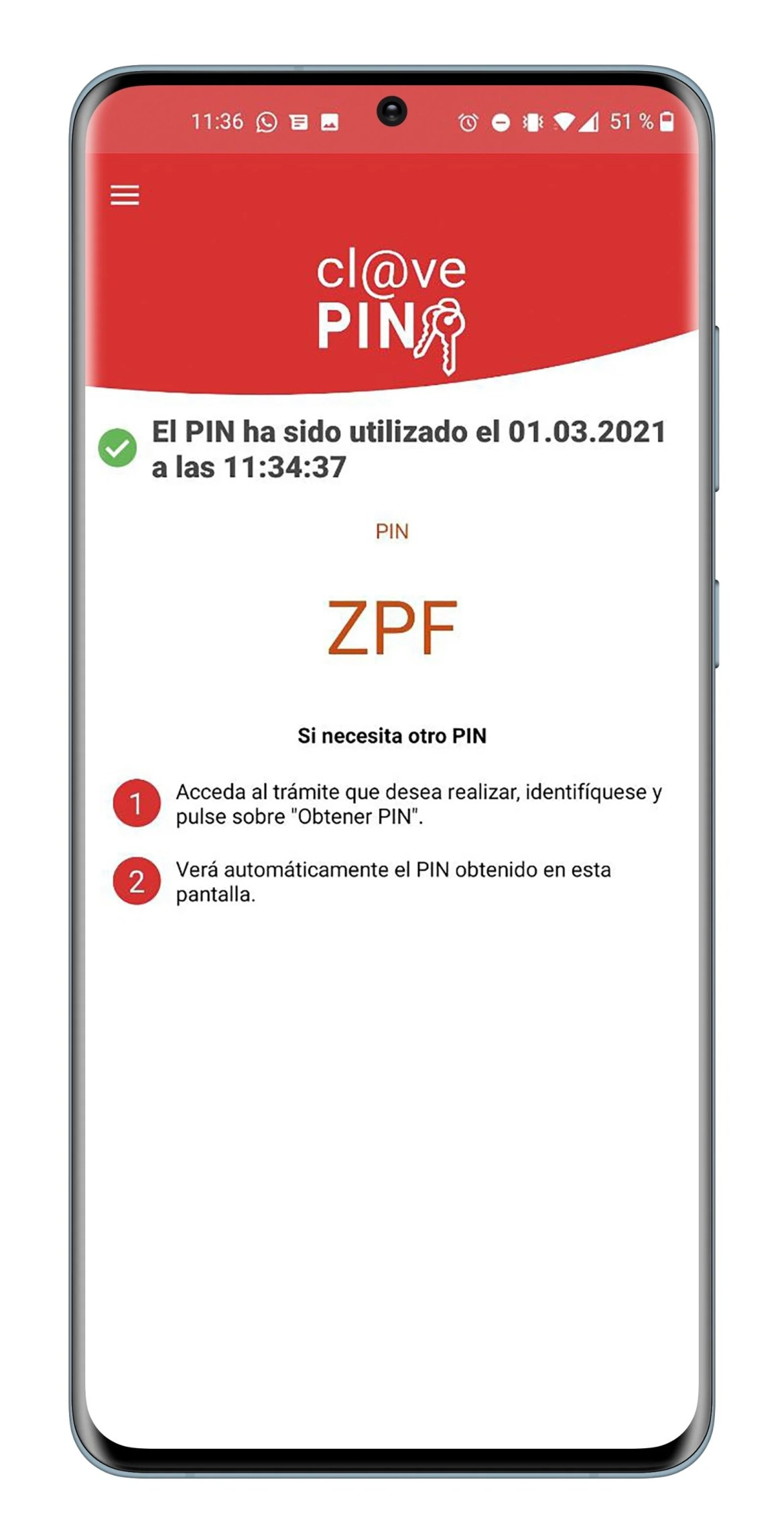 Clave PIN en Android
