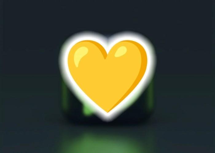 Emoji de corazón de color amarillo