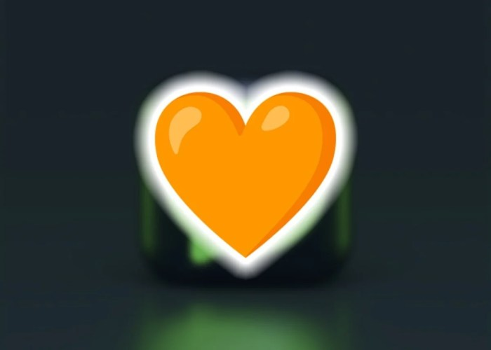 Corazon de color naranja