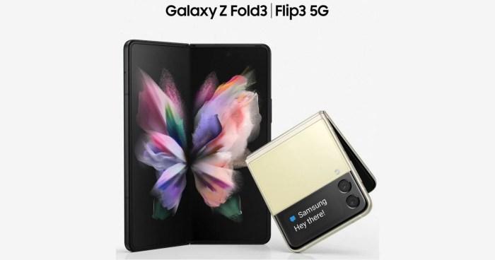 Samsung Galaxy Z Fold3 y Galaxy Z Flip3