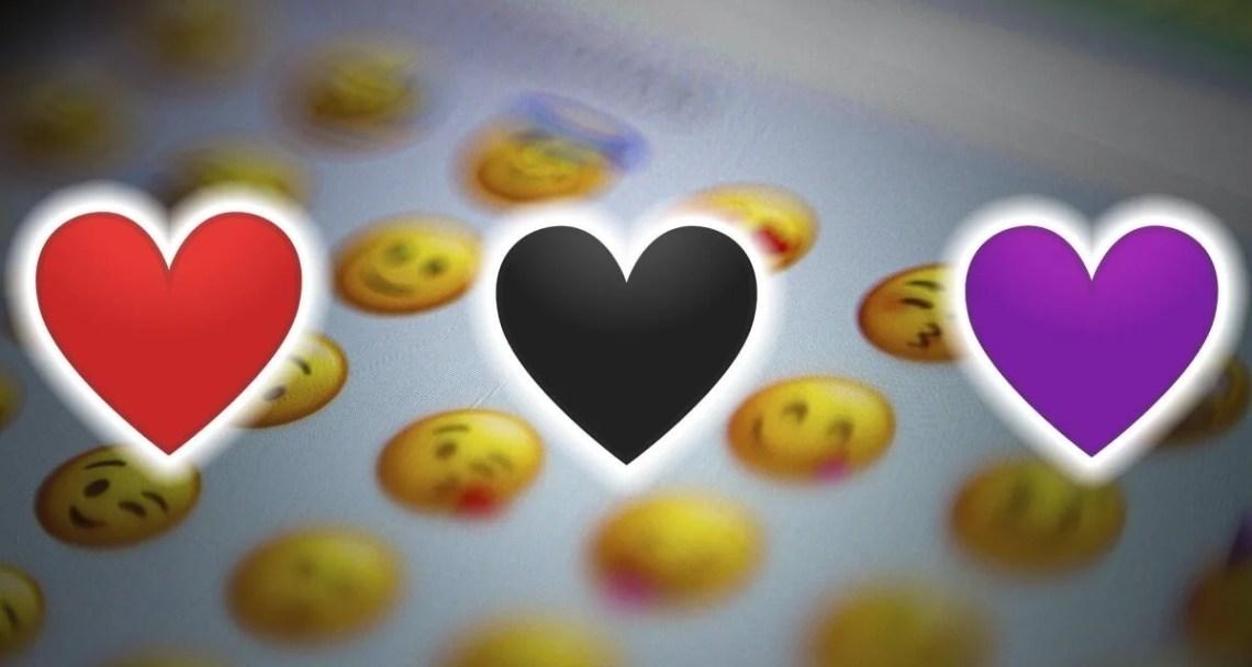 Todos los significados de los emojis de corazones segun su color