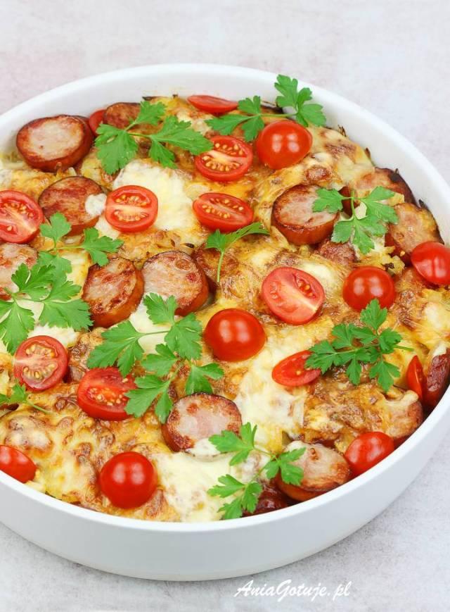 Картофельная запеканка с колбасой, 1 шт.