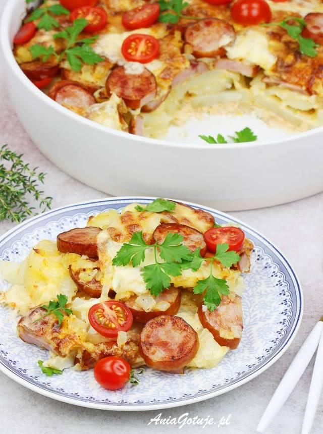 Картофельная запеканка с колбасой, 10