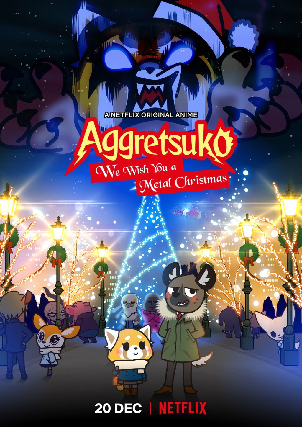 Aggretsuko We Wish You A Metal Christmas Visual