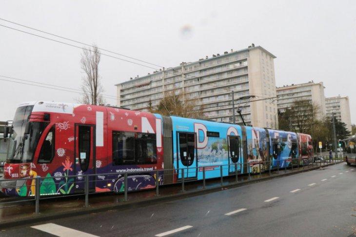Promosi Wonderful Indonesia hiasi trem di Brussels