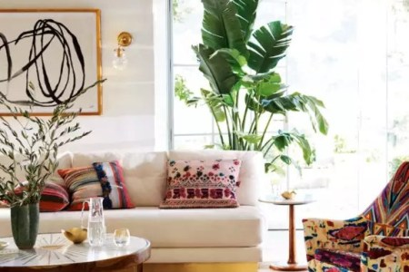 Design Ideas from Rooms that Nail the Layered Rug Look   Apartment      Image credit  Anthropologie   Layering rugs lends a