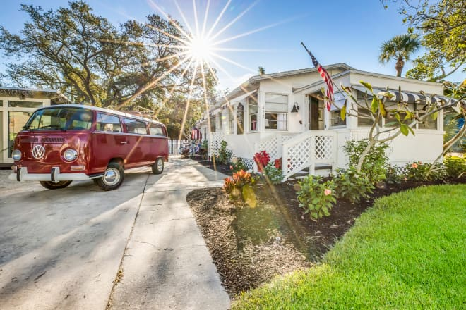 Look Inside: A Vintage Florida Beach Cottage with all the Updates for $878K