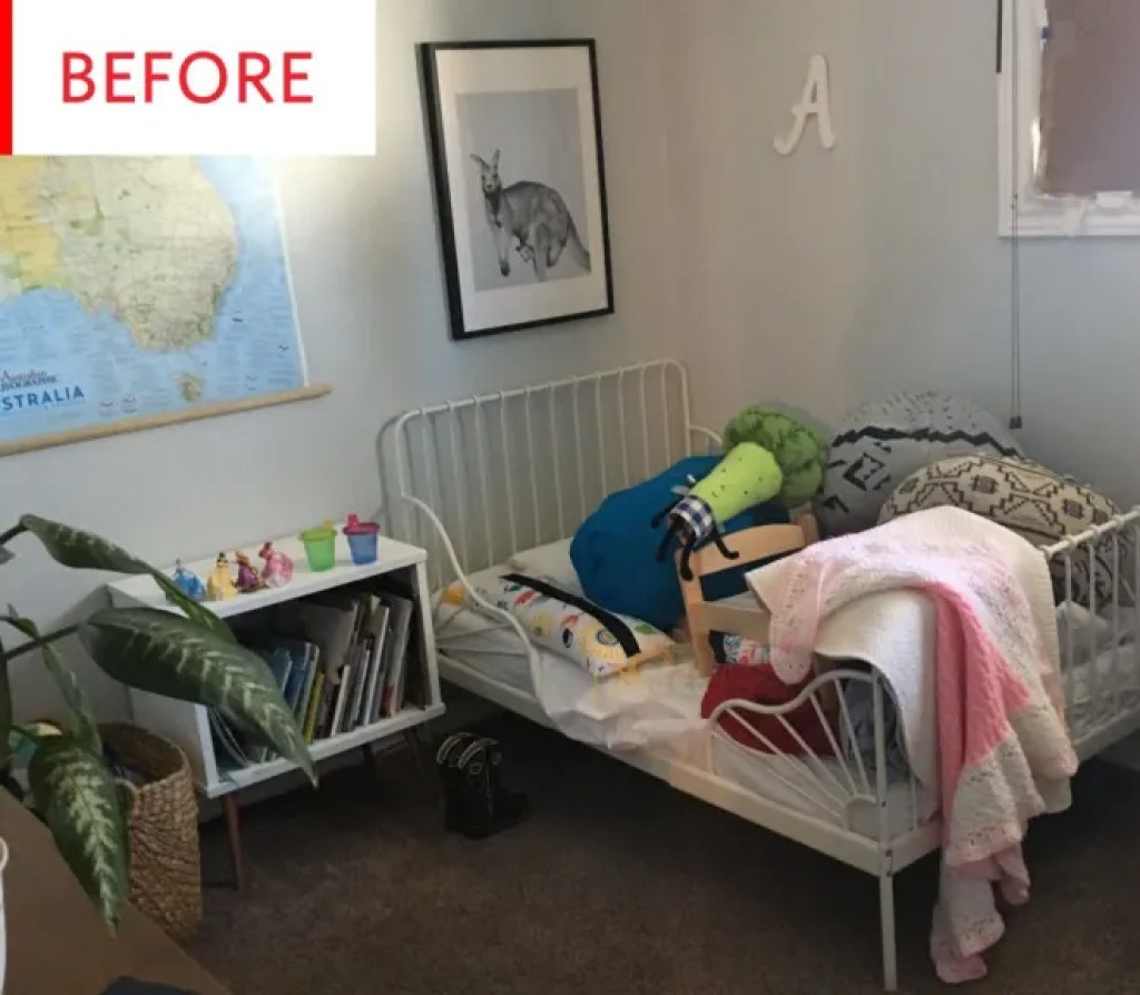 Before and After: A $500 Equestrian-Inspired Kids' Room Makeover