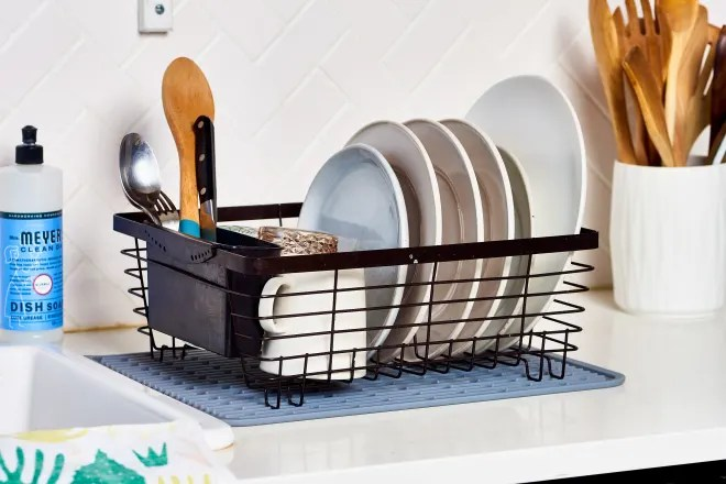 Two Smart Reasons You Should Throw Your Dish Rack in the Dishwasher