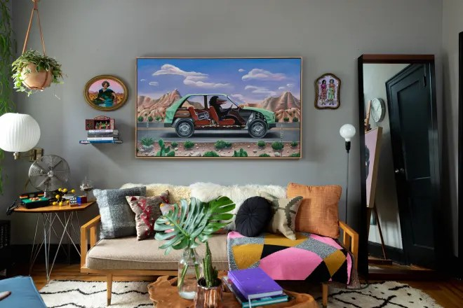 Artist Shyama Golden's Brooklyn Home Is 'PeeWee's Playhouse Meets Tropical Modernism' Style