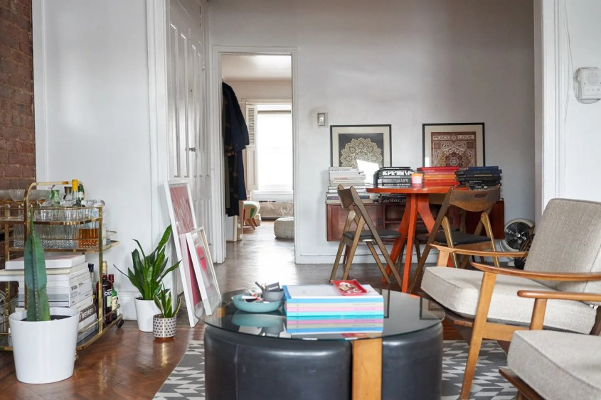 10 Small Living Rooms That Make Space for a Dining Table, Too