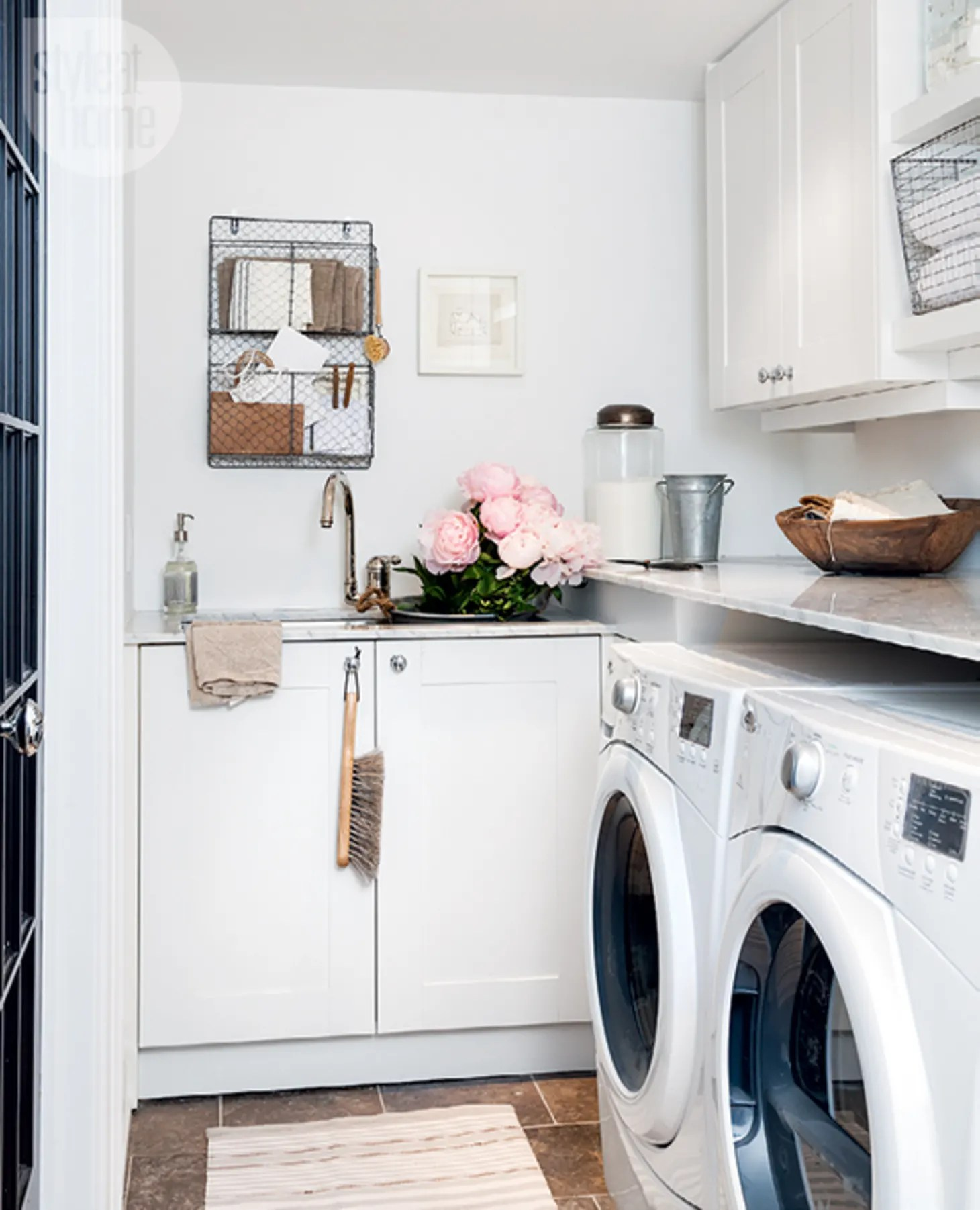 Small Laundry Room Remodeling and Storage Ideas ... on Laundry Room Organization Ideas  id=17639