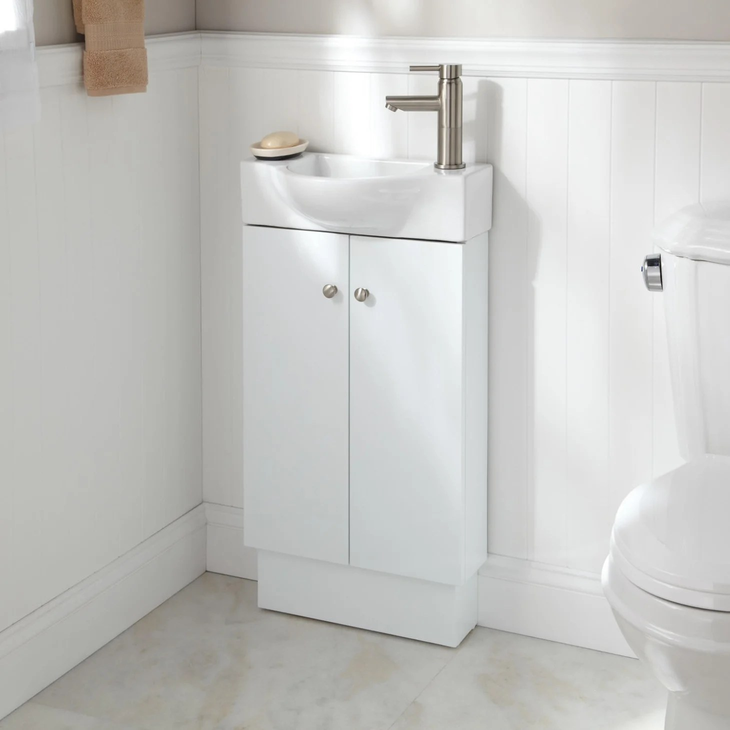 Small Bathroom Vanities and Sinks for Tiny Spaces ... on Small Space Bathroom  id=89012