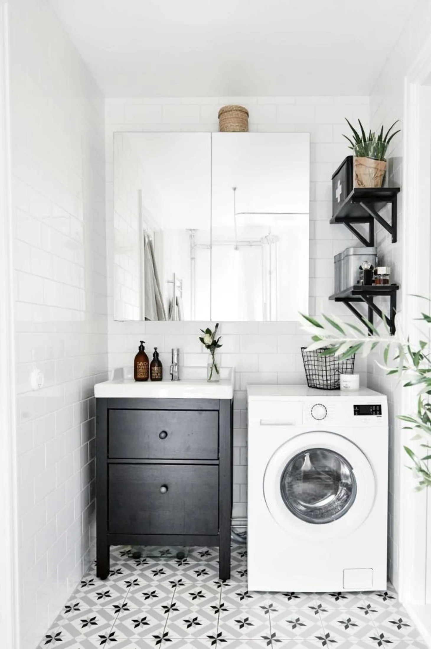 Small Laundry Room Remodeling Ideas   Apartment Therapy on Small Space Small Bathroom Ideas With Washing Machine id=65987