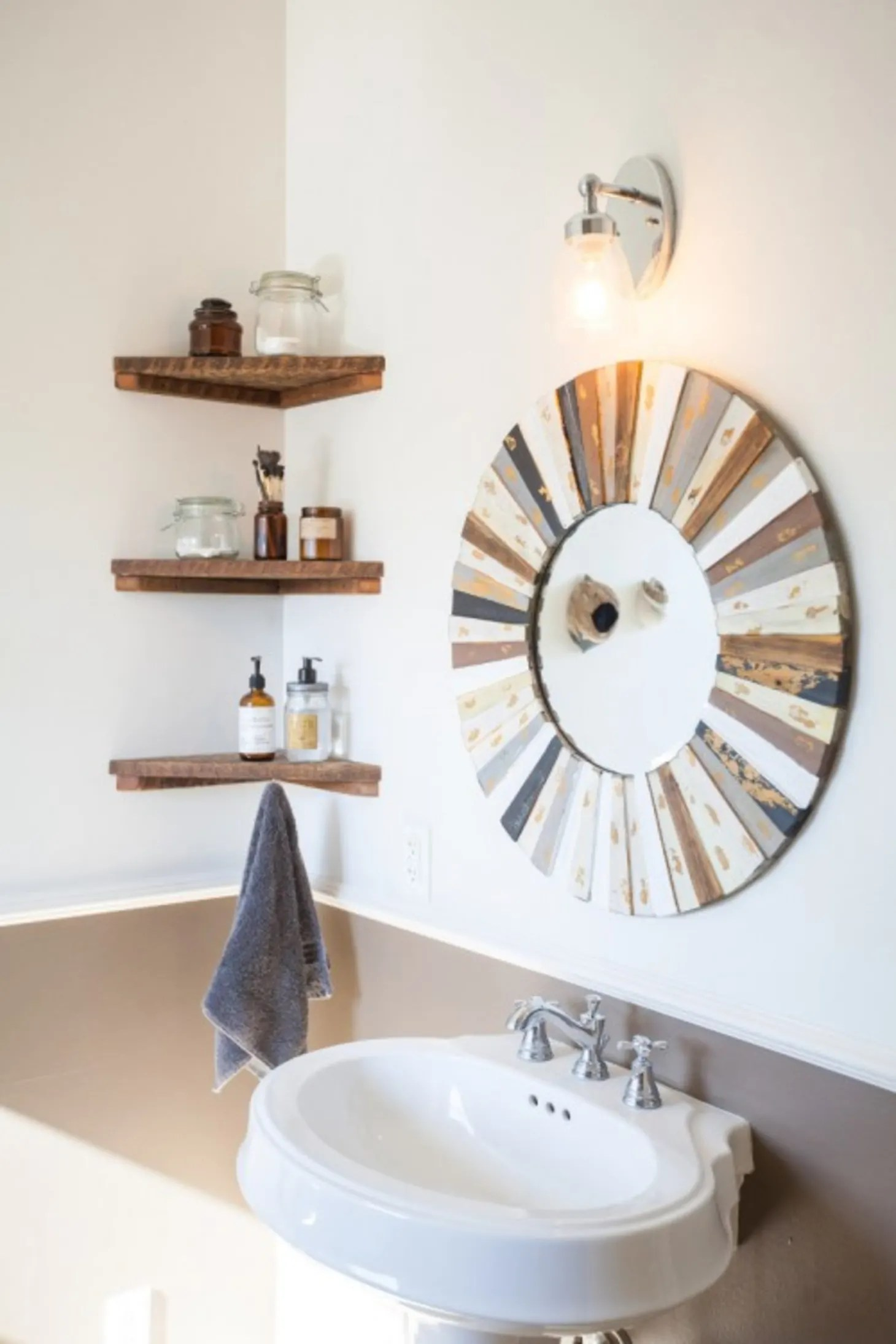 Small Bathroom Best Wall Shelves Storage Ideas | Apartment ... on Small Apartment Bathroom Storage Ideas  id=49423