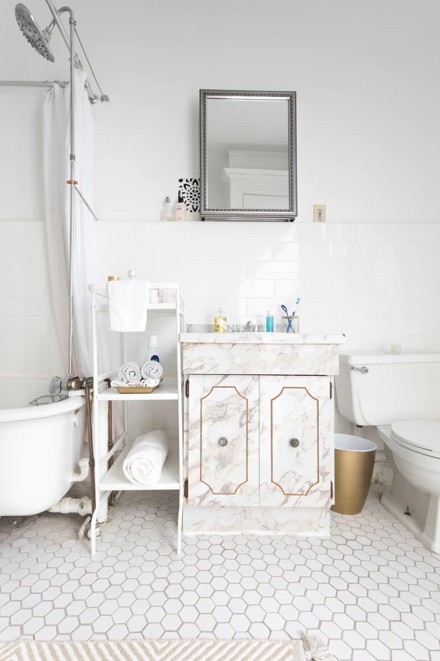 25 Small Bathroom Storage & Design Ideas - Storage ... on Apartment Bathroom Ideas  id=29123