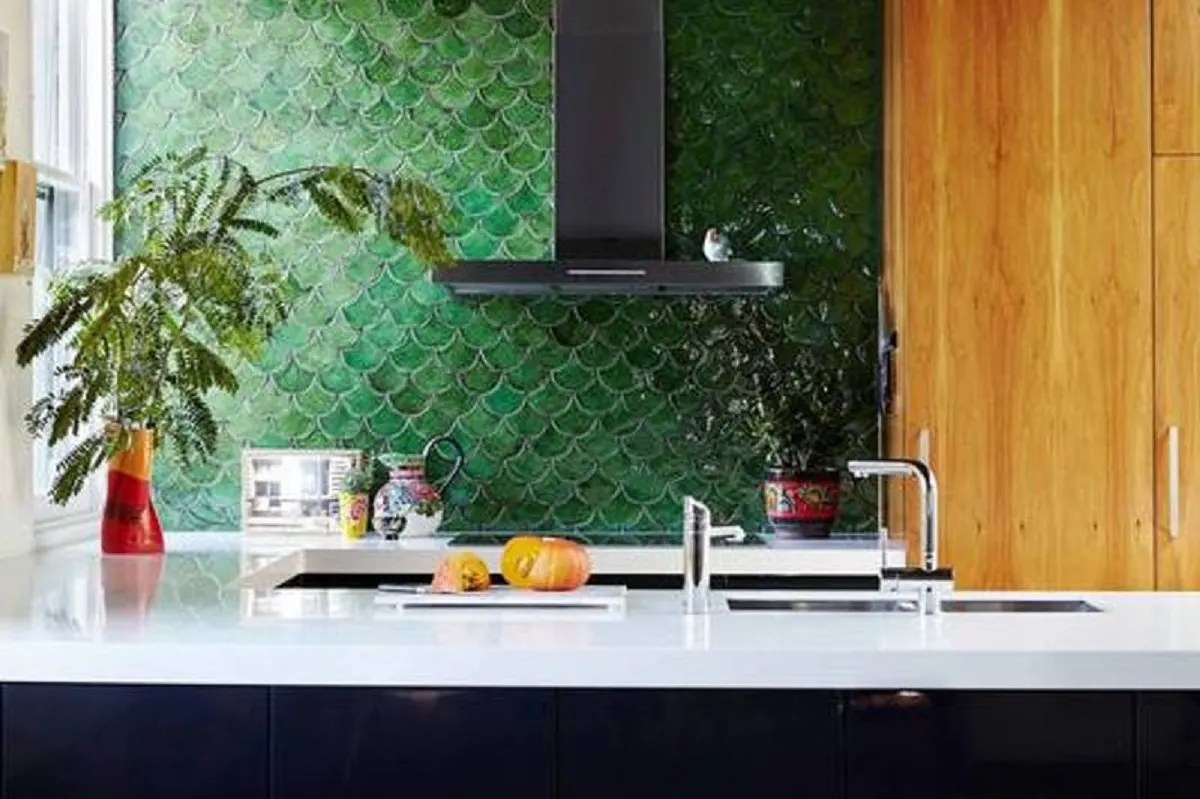 excellent green kitchen tiles