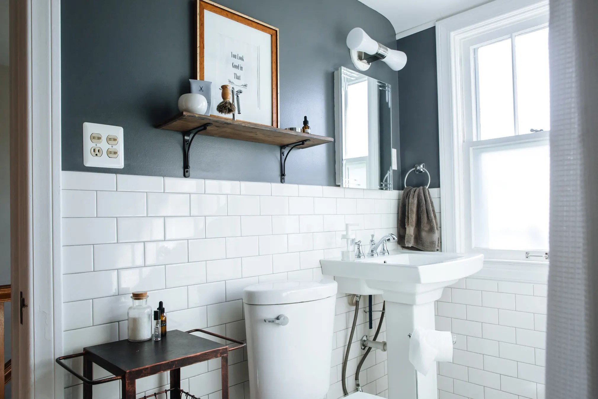 Best Paint Colors for Small Bathrooms   Apartment Therapy on Small Apartment Bathroom  id=89042