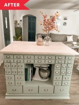 Before and After: A Dated Desk Is Transformed into a Functional Kitchen Island