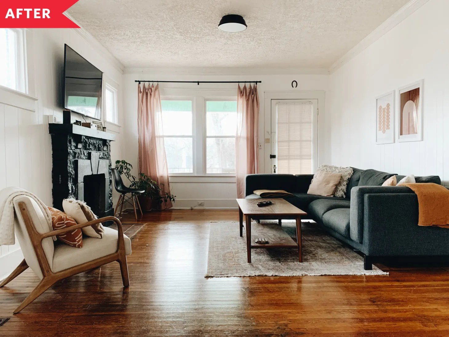 Before and After Living Room Redo - Boho Minimalist Living ... on Minimalist Living Room  id=79594