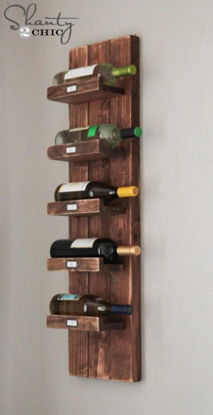 15 stylish diy wine racks apartment
