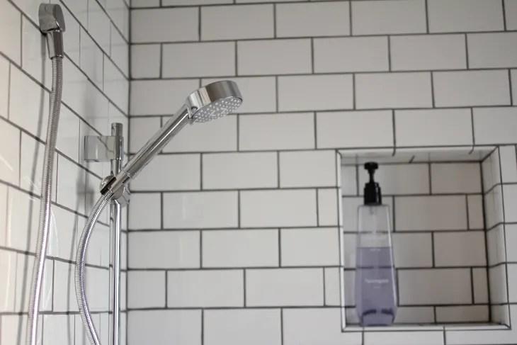 to build a recessed shower shelf